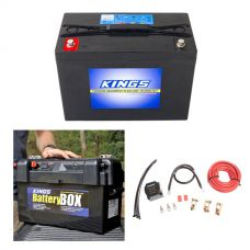Adventure Kings AGM Deep Cycle Battery 98AH + Maxi Battery Box + Dual Battery System