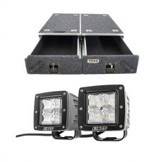 "Titan Drawer System - 1070mm + 3"" LED Work Light - Pair"