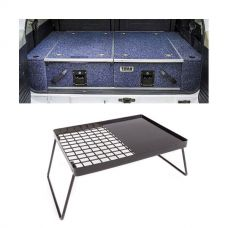 Titan Rear Drawers + Wings Suitable for 200 Series LandCruiser + Kings Essential BBQ Plate