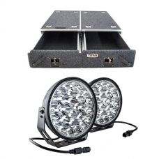 "Titan Drawer System - 1070mm +  Domin8r Xtreme 9"" LED Driving Lights (Pair)"