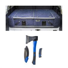 Titan Rear Drawers + Wings Suitable for 200 Series LandCruiser + Three Piece Axe, Folding Saw and Knife Kit