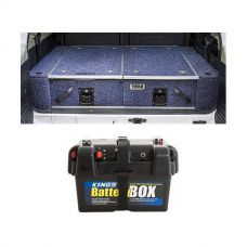 Titan Rear Drawer with Wings suitable for Toyota Landcruiser 100/105 Series (GX/GXL Sept 1998-2005 No Air Con in rear) + Adventure Kings Battery Box