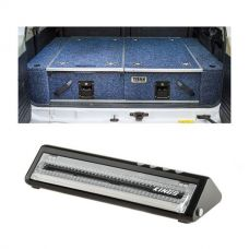 Titan Rear Drawer with Wings suitable for Toyota Landcruiser 100 Series (GXL 2005+ Air Con in rear) + Vacuum Sealer