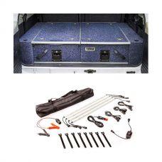 Titan Rear Drawer with Wings suitable for Nissan Patrol ST-L, TI + Illuminator 4 Bar Camp Light Kit