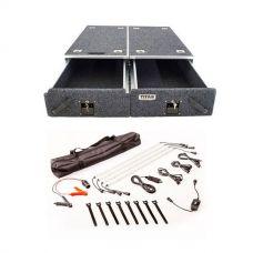 Titan Drawer System - 1070mm + Illuminator 4 Bar Camp Light Kit