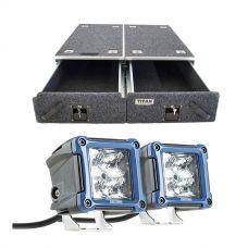 "Titan Drawer System - 1070mm + 3"" LED Work Light - Pair"