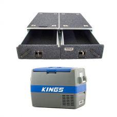 Titan Drawer System - 1070mm + 60L Camping Fridge/Freezer