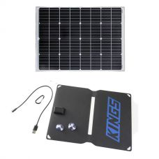 Adventure Kings 110w Fixed Solar Panel + 10W Portable Solar Kit