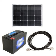 Adventure Kings 110w Fixed Solar Panel + 10m Lead For Solar Panel Extension + AGM Deep Cycle Battery 115AH