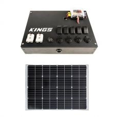 12V Control Box + Adventure Kings 110w Fixed Solar Panel