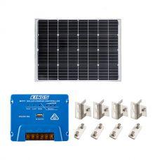 Adventure Kings 110w Fixed Solar Panel + Mounting Brackets to Suit Kings 110W Fixed Solar Panel + Adventure Kings MPPT Regulator