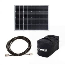 Adventure Kings 110w Fixed Solar Panel + 10m Lead For Solar Panel Extension + 40L Duffle Bag