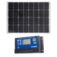 Adventure Kings 110w Fixed Solar Panel + Adventure Kings PWM Regulator
