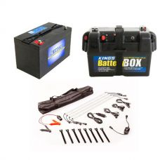 Adventure Kings AGM Deep Cycle Battery 115AH + Battery Box + Illuminator 4 Bar Camp Light Kit