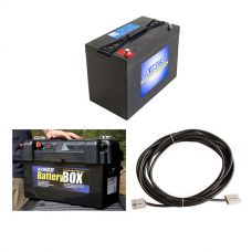 Adventure Kings AGM Deep Cycle Battery 115AH + Maxi Battery Box + 10m Lead For Solar Panel Extension