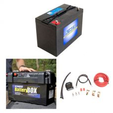 Adventure Kings AGM Deep Cycle Battery 115AH + Maxi Battery Box + Dual Battery System