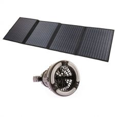 Adventure Kings 120W Solar Blanket with MPPT Regulator + 2in1 LED Light & Fan