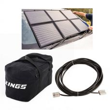 Adventure Kings 120W Portable Solar Blanket + 40L Duffle Bag + 10m Lead For Solar Panel Extension