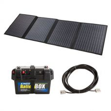 Adventure Kings 120W Solar Blanket with MPPT Regulator + Battery Box +  10m Lead For Solar Panel Extension