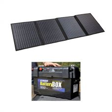 Adventure Kings 120W Portable Solar Blanket + Maxi Battery Box