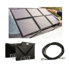 Adventure Kings 120W Portable Solar Blanket + 10m Lead For Solar Panel Extension + Portable Steel Fire Pit