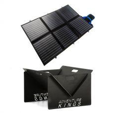 Adventure Kings 120W Portable Solar Blanket + Portable Steel Fire Pit