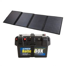 120W Solar Blanket with MPPT Regulator + Adventure Kings Battery Box