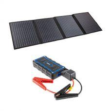 Adventure Kings 120W Portable Solar Blanket + 1000A Lithium Jump Starter