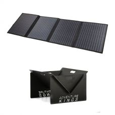Adventure Kings 120W Solar Blanket with MPPT Regulator + Kings Portable Steel Fire Pit
