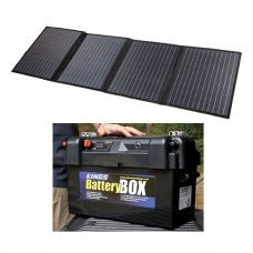 Adventure Kings 120W Solar Blanket with MPPT Regulator + Maxi Battery Box