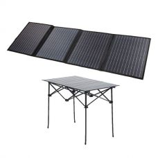 Adventure Kings 120W Solar Blanket with MPPT Regulator + Kings Portable Alloy Camping Table