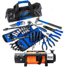 Domin8r X 12,000lb Winch with rope + Adventure Kings Essential Bush Mechanic Toolkit