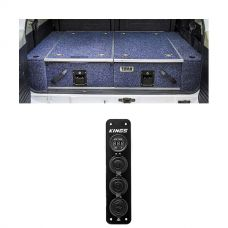 Titan Rear Drawer with Wings suitable for Toyota Landcruiser 80 Series + Adventure Kings 12V Accessory Panel