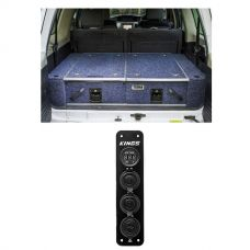 900mm Titan Rear Drawers suitable for smaller wagons + Adventure Kings 12V Accessory Panel