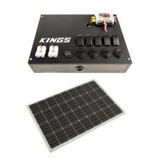 12v Control Box + Adventure Kings 110W Semi-Flexible Solar Panel