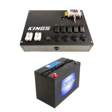 12V Control Box + AGM Deep Cycle Battery 115AH