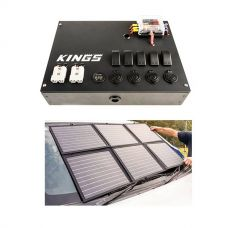 12V Control Box + Adventure Kings 120W Portable Solar Blanket