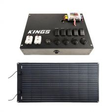 12V Control Box + Adventure Kings 160W Semi-Flexible Solar Panel