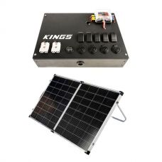 12v Control Box + Kings Premium 160w Solar Panel with MPPT Regulator