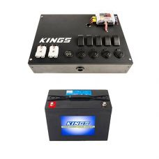 12V Control Box + AGM Deep Cycle Battery 98AH