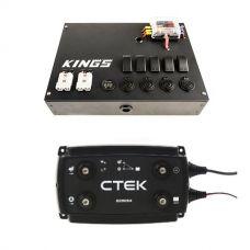 12V Control Box + CTEK D250SA DC/DC 20A Dual Battery System/Solar Controller