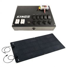 12V Control Box + Adventure Kings 160W Semi-Flexible Solar Panel