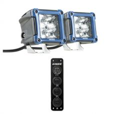 """3"""" LED Work Light - Pair + 12V Accessory Panel"""