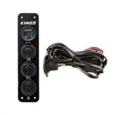 Adventure Kings 12V Accessory Panel + 12V Fridge Wiring Kit
