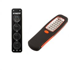 Adventure Kings 12V Accessory Panel + Illuminator 24 LED Work Light