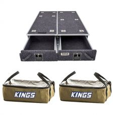 1300mm Titan Drawer System Suitable for Utes + 2x Adventure Kings Clear Top Canvas Bag