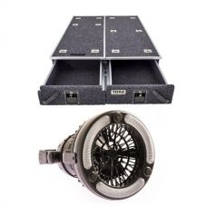 1300mm Titan Drawer System Suitable for Utes + 2in1 LED Light & Fan