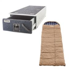 Titan Single Ute Drawer 1300mm + Premium Sleeping bag -5°C to 5°C Degrees Celsius Right Zipper