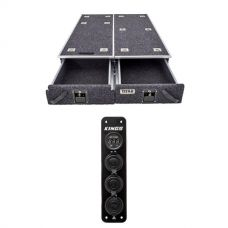 1300mm Titan Drawer System Suitable for Utes + Adventure Kings 12V Accessory Panel