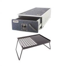 Titan Single Ute Drawer 1300mm + Essential BBQ Plate